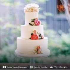 Cake created by @tiffanysbakingco -- Wedding Planned by @ashevilleeventco -- Photo by @nataliewatson