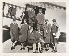 1930s | United Air Lines stewardesses - c. 1930s
