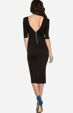 Powerful Bodycon Midi Dress.  I LOVE the exposed zipper in the back.