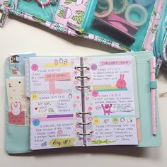 My planner pages this week! Finally brought myself to use some of my super cute sticke. Kikki K Planner, Cute Planner, Planner Layout, Planner Pages, Planner Ideas, Filofax, Happy Planner, Planner Stickers, Types Of Planners