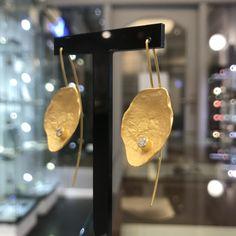 #biżuteriaartystyczna #kolczyki #cyrkonie #margotstudio