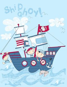 All about surface pattern ,textiles and graphics: Here comes the Pirates