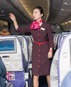 【China】 Shanghai Airlines cabin crew / 上海航空 客室乗務員 【中国】 Silk Scarves, Shirt Dress, Shirts, Dresses, Fashion, Vestidos, Moda, Shirtdress, Fashion Styles