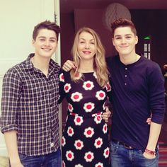 Finn and Jack Photo with their mother :)