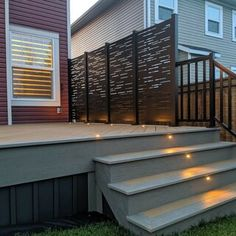 Laser cut privacy screens for interior/exterior use. Add a modern flair to your space while providing privacy around your backyard or deck. Made from high-quality aluminium and a UV protected powder coat, they're built to last. Privacy Wall On Deck, Privacy Fence Designs, Patio Deck Designs, Privacy Screen Outdoor, Patio Design, Deck Privacy Screens, Wood Fence Design, Garden Privacy, Backyard Patio