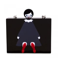 Embrace the non-conventional and think outside of the box with the Chloe Clutch, revisited this season with our iconic Doll Face motif. With its tactile perspex finish and detachable cross body chain, this truly unique clutch will make for a striking new Leather Evening Bags, Lulu Guinness, Cute Bags, Doll Face, Icon Design, Clutch Bag, Bag Accessories, Unique Gifts, Seasons
