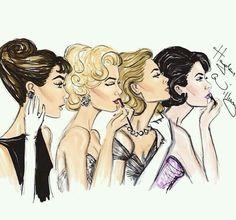 Audrey, Marilyn, Grace y Liz❤