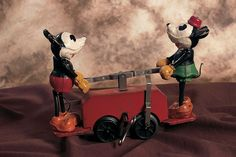 300 Impossible Things Before Noon: 311 Metal Mickey and Minnie Mouse Hand Car by Lionel