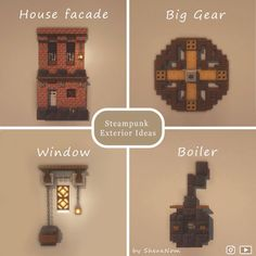 Minecraft Farm, Minecraft Cottage, Easy Minecraft Houses, Minecraft House Tutorials, Minecraft Plans, Minecraft Decorations, Minecraft Construction, Amazing Minecraft, Minecraft Tutorial