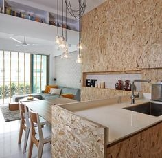 Focus on OSB Wood for Home Interior Designs Küchen Design, Design Case, House Design, Design Ideas, Kitchen Interior, Home Interior Design, Interior Architecture, Chipboard Interior, Osb Plywood