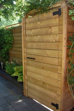 Fence with horizontal instead of vertical boards.