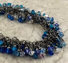 Hey, I found this really awesome Etsy listing at https://www.etsy.com/listing/179125241/glacier-icy-blues-multicolor-gunmetal