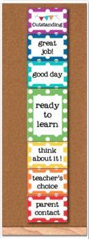 Behavior Clip Chart - Rainbow Polka Dot - Classroom Management #