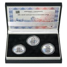 Umělecké návrhy mince 200 Kč Sestrojení Staroměstského orloje - sada stříbrných odražků.