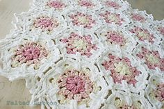 Shabby chic with an elegant vintage quality, this blanket can become a family heirloom. The motifs work up quickly with texture and softness and the join-as-you-go instructions saves you time weaving in those ends.