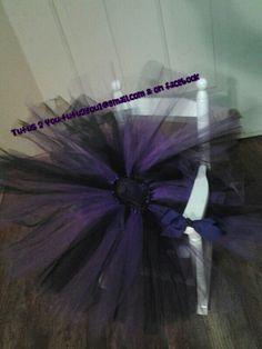 Purple and black tutu only skirt.  This beauty was created by Angie at Tutus 2 You.  Find me on facebook for weekly sales or email tutu2you1@gmail.com