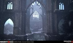 Without a doubt UNCHARTED A Thief's End from Naughty Dog is a masterpiece. The game has all the player needs: rich Environment Concept, Environment Design, A Thief's End, Zombie Art, Painting Inspiration, Landscape Paintings, Diving, Scotland, Cathedral