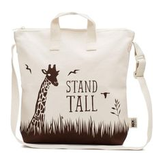 "Our STEADY kids zipper tote bag will inspire your child to ""STAND TALL"" throughout her big and small adventures in life. This modern tote is the perfect companion for little ones who like to roam wild and free."