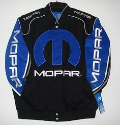 SIZE  L JH DESIGN MOPAR Racing EMBROIDERED Cotton Jacket NEW  Black L