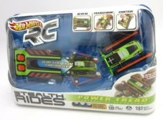 Mattel Hot Wheels RC Stealth Rides Power Tread Vehicle Ages 8+ . $25.00. Small Enough To Fit In A Pocket Stealth Rides Are Engineered To Amaze. This Mini But Mighty Rc Tank Folds And Fits In A Slim Carrying Case. The Case Becomes The Control For The Vehicle That Slips Out And Transforms From Flat To Fully Functional. Made For Gripping And Climbing This Stealth Rides Tank Is One Of The Biggest Little Things In The World Of Rc.
