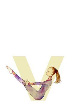 Navasana #yoga #illustration