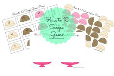 Ice Cream Scoops Math Game - Such a fun FREE printable game for Preschool, Kindergarten, and 1st grade to practice some basic addition!