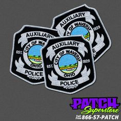 Embroidered Iron or Sew on Patch Bureau of Water Supply Police New York City