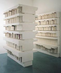 Rachel Whiteread, Untitled (Stacks), plaster, polystyrene and steel. Whiteread's use of casts of casts of everyday objects bears some resemblance to Starling's transformative reconstruction of pianos in Inverted Retrograde Theme. Rachel Whiteread, Everyday Objects, Land Art, Conceptual Art, Negative Space, Gcse Art, Installation Art, Art Installations, Contemporary Artists