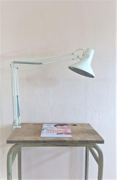 Norwegian white Luxo L-2 architect lamp with desk clamp in full working order. by LeKrazyHorse on Etsy