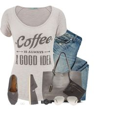 Coffee is Always a Good Idea by stay-at-home-mom on Polyvore featuring maurices, TOMS, Vivienne Westwood, Vince Camuto and Ray-Ban