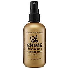 What it is: A high-shine glossing mist.What it does: Controls flyaways and delivers a reflective, lightweight veil to styled hair.What else you need to know: This brilliant finishing spray can be layered over any product
