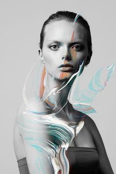 keywords: fashion model beauty portrait paint illustration