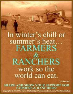 .god created farmers so you slackers can complain about your God given foods bothering your MSG improved foods.