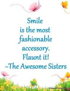 The Awesome Sisters #Quotes – Smile