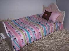 Comforter-Set-For-18-034-Doll-Multi-Color-Buttons-W-Pillows-Handmade-Accessories