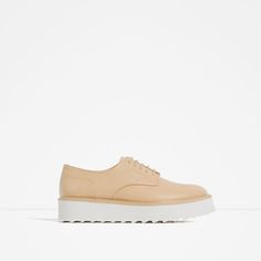 Image 1 of FLAT PLATFORM LACE-UP SHOES from Zara
