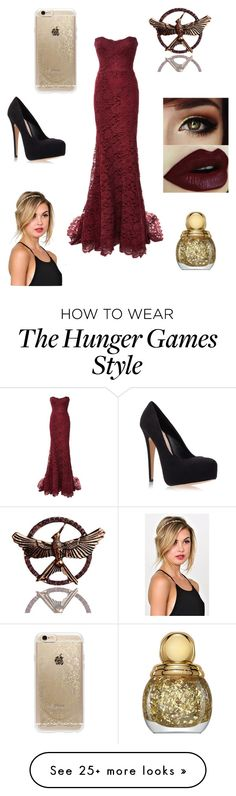 """Mockingjay Part 2 Premiere"" by brooke1v on Polyvore featuring Monique Lhuillier, Carvela Kurt Geiger, Rifle Paper Co and Christian Dior"