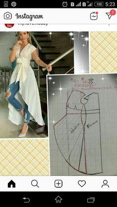 Baby Girl Dress Patterns, Dress Sewing Patterns, Clothing Patterns, Pattern Sewing, Fashion Sewing, Diy Fashion, Fashion Dresses, Sewing Clothes, Diy Clothes