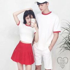 their billboard outfits were the best don't fight me on this Matching Couple Outfits, Matching Couples, Cute Couples, Korean Couple, Ulzzang Couple, Ulzzang Girl, Ulzzang Fashion, Asian Fashion, Cute Korean