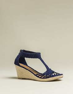 weaved t-bar espadrille Espadrilles, Wedges, Bar, Clothes For Women, Heels, How To Wear, Fashion, Espadrilles Outfit, Outerwear Women
