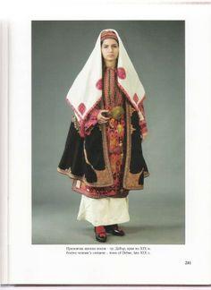 Festive dress from Debur, Macedonia. Album by Anita Komitska
