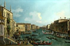 A Regatta on the Grand Canal  Full title: A Regatta on the Grand Canal.  Artist: Canaletto.  Date made: about 1740.