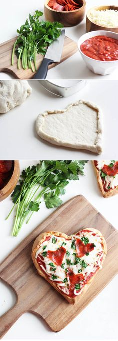 Homemade Heart Pizza