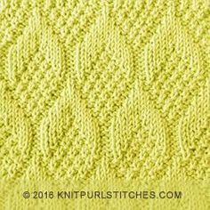 Nice stitch pattern. The Pine Cone stitch is knitted with simple knit and purl techniques. ( Written instructions + Chart)