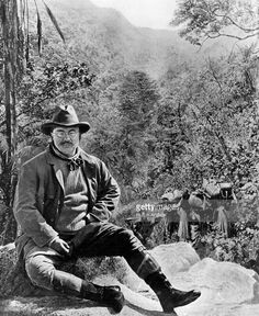 1909: American politician Theodore Roosevelt (1858 - 1919) on a hunting tour in Central Africa. He served as the 26th President of the United States of America from 1901 to 1909.