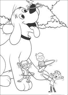 Desenhos para colorir para crianças. Desenhos para imprimir e colorir Clifford 6