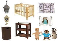 Babykamer met als thema natuur