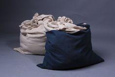 Linen bag / Large laundry bag / Organic clothes bag by LinenCloud