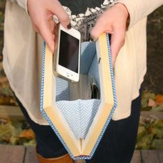 Hollow out a book to turn it into an awesome and adorable clutch! Perfect for book lovin' gals!