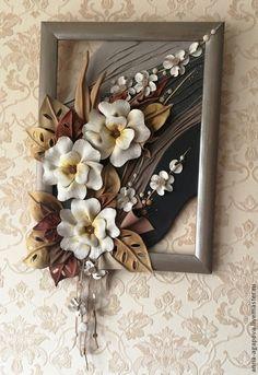 """Картины цветов ручной работы. Ярмарка Мастеров - ручная работа Картина из кожи """"Весеннее настроение"""". Handmade."""